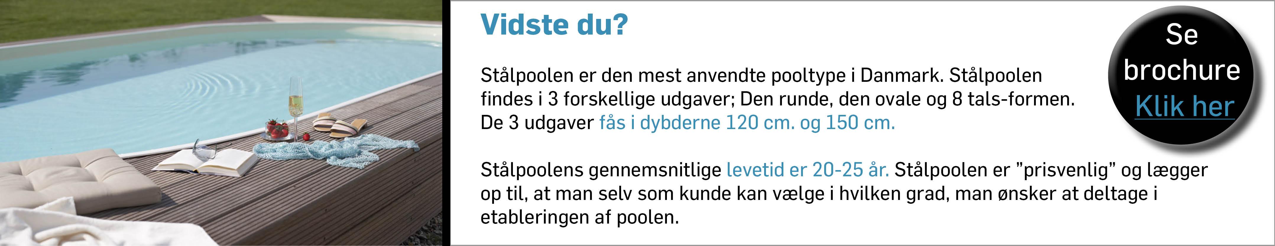 Stålpool - Den mest anvendte pooltype i Danmark